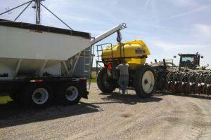 fertilizer into strip tiller